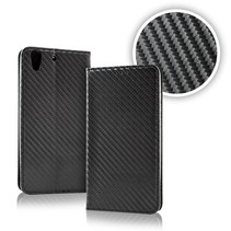 Smart Carbon Wallet Case voor Samsung S9 Zwart