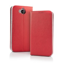 Smart Magnet Wallet Case for Samsung S9 Red