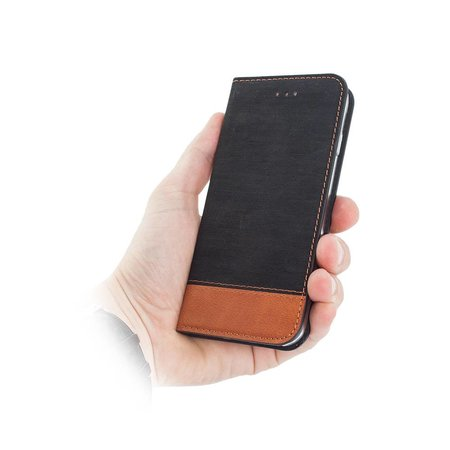 Geeek Smart Retro Wallet Case iPhone 7 / iPhone 8 Zwart