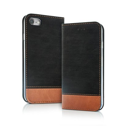 Geeek Smart Retro Wallet Hülle iPhone X Schwarz