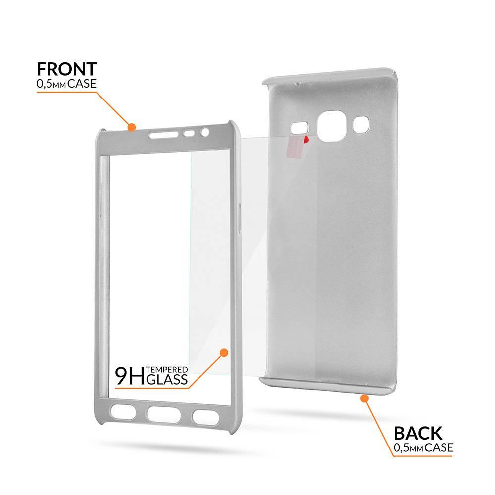 Samsung S9 Plus Full Body 360 Super Thin Case Cover Hoesje Zilver