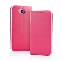 Smart Carbon Wallet Case voor Samsung S9 Roze