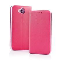 Smart Carbon Wallet Case voor Samsung S9 Roze