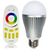 RGBW 9W LED Lamp met Afstandsbediening