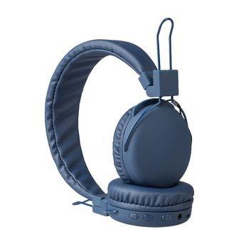 Hoofdtelefoon On-Ear Bluetooth 1.00 m Blauw Hoofdtelefoon On-Ear Bluetooth 1.00 m Blauw