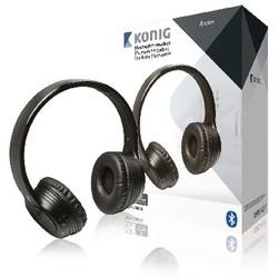 König Headset On-Ear Bluetooth Eingebautes Mikrofon Schwarz