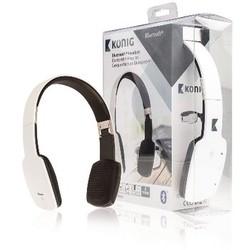 König Headset On-Ear Bluetooth Integriertes Mikrofon Weiß