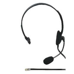 König Headset On-Ear RJ9 Ingebouwde Microfoon 2.2 m Zwart