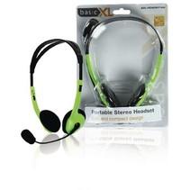 Headset On-Ear 2x 3.5 mm Ingebouwde Microfoon 2.0 m Groen