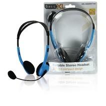 Headset On-Ear 2x 3.5 mm Ingebouwde Microfoon 2.0 m Blauw