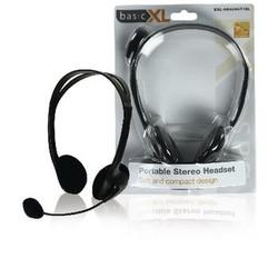 basicXL Headset On-Ear 2x 3.5 mm Ingebouwde Microfoon 2.0 m Zwart