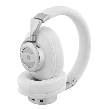 Headset Bluetooth - ANC (Active Noise Cancelling) Over-Ear Ingebouwde Microfoon 1.20 m Wit/Zilver He