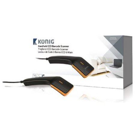 König Barcodescanner CCD 1D Linear Zwart