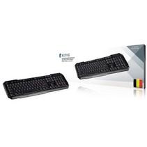 Bedraht Keyboard Tastatur Multimedia USB Belgisch Schwarz