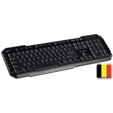 König Bedraad Keyboard Multimedia USB Belgisch Zwart