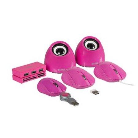 Sweex Bedrade Muis Draagbaar 3 Knoppen Roze