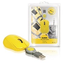 Wired Mouse Portable 3 buttons Yellow