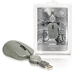Sweex Maus Bedraht Tragbar 3 Knopfen Grau
