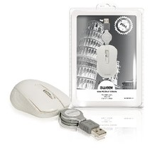 Wired Mouse Portable 3 buttons White