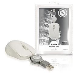 Sweex Maus Bedraht Tragbar 3 Knopfen Weiß