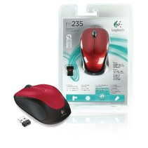 Wireless Desktop Mouse 3 Buttons Red