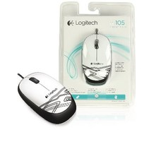 Wired Mouse Desktop 3 Buds White / Black