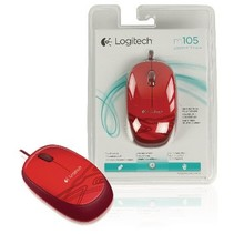 Wired Mouse Desktop 3 Red Buttons