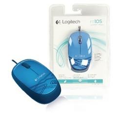 Logitech Mause Bedraht Büro Model 3 Knopfen Blau