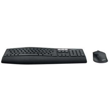Logitech Draadloze Muis en Keyboard Combiverpakking Kantoor USB US International Zwart