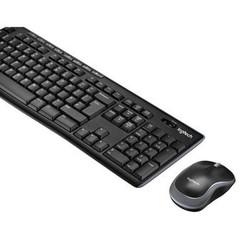 Logitech Draadloze Muis en Keyboard Combiverpakking Standaard USB Belgisch Zwart