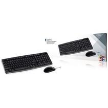 Maus und Tastaur USB Standard  Scandinavisch Schwarz