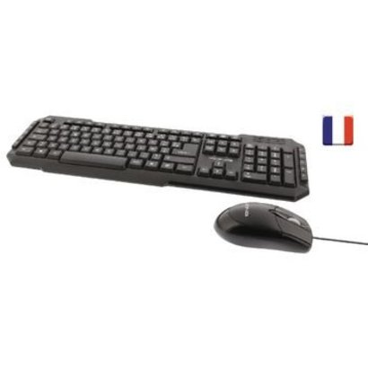 König Bedrade Muis en Keyboard Standaard USB Frans Zwart