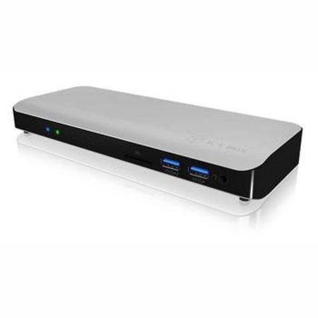 ICY BOX Dockingstation Thunderbolt Gigabit 12-Poorts Zilver/Zwart