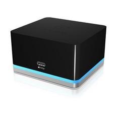 ICY BOX Dockingstation USB-C / HDMI 1.4b Female / USB 3.0 Gigabit Schwarz/Silber