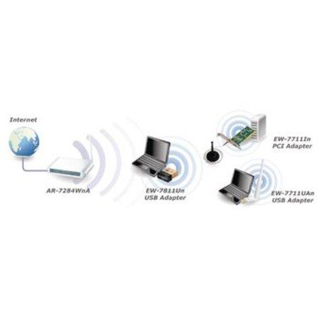 Edimax Draadloze USB-Adapter N150 2.4 GHz Zwart