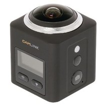 Full HD Action Cam 360 ° 2K Wi-Fi / Microfoon Zwart