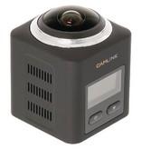 Camlink Full HD Action Cam 360 ° 2K WLAN / Mikrofon Schwarz