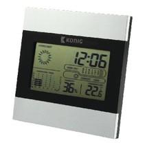 Weerstation/LCD Klok Binnen Grijs/Zwart