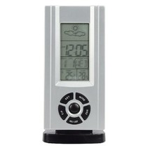 Thermo Hygrometer Weather Station Indoor Silver