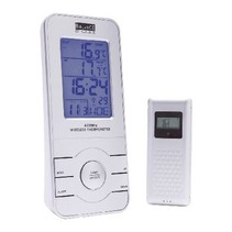 Radio controlled Weather Station Inside and Outside Silver
