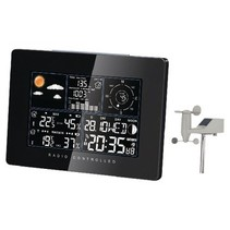 Solar Weather Station Inside and Outside Black