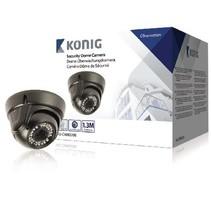 Dome Überwachungskamera 1000 TVL IP66 Schwarz