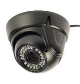 König Dome Beveiligingscamera 1000 TVL IP66 Zwart