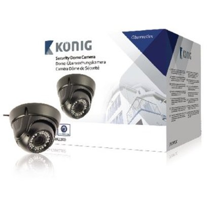 König Dome Überwachungskamera 700 TVL IP66 Schwarz