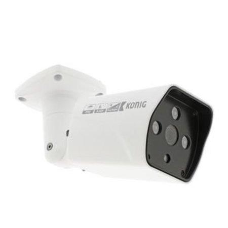 König Full HD Bullet Überwachungskamera IP66 Weiß