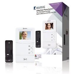 "König Video-Türsprechanlage Türklingel Intercom 3,5 """