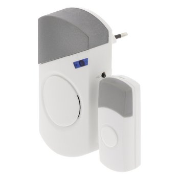 Plug-in Draadloze Deurbel Set 220V 70 dB Wit/Grijs Plug-in Draadloze Deurbel Set 220V 70 dB Wit/Grij