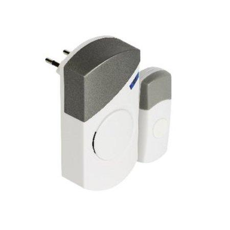 Valueline Plug-in Wireless Türklingel Set 220V 70 dB Weiß / Grau