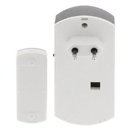 Valueline Plug-in Draadloze Deurbel Set 220V 70 dB Wit/Grijs