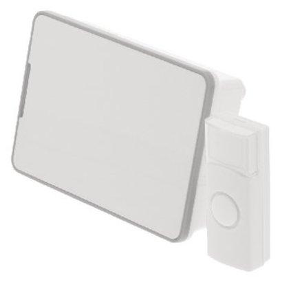 König Wireless Doorbell Set Battery-powered 80 dB White / Gray